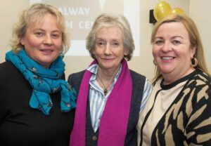 01/12/2014 Repro free  UNESCO Director-General, Ms Irina Bokova, announced from Paris   that Galway has been designated a UNESCO City Of Film. Under the UNESCO Creative City's network, Galway is now one of only five cities in the world to  achieve this much sought-after status.  This is a  permanent global designation. This status brings  the highest internationally  recognised standard of excellence in  the creative industries to Galway. The title of Creative City of Film also includes membership of UNESCO's Creative City's Network. At the celebrations at the Galway Film Centre were Celine Cutin GMIT,  Lelia Doolan Picture Palace and Cait Noone Head of College Tourism and Arts GMIT  . Photo:Andrew Downes