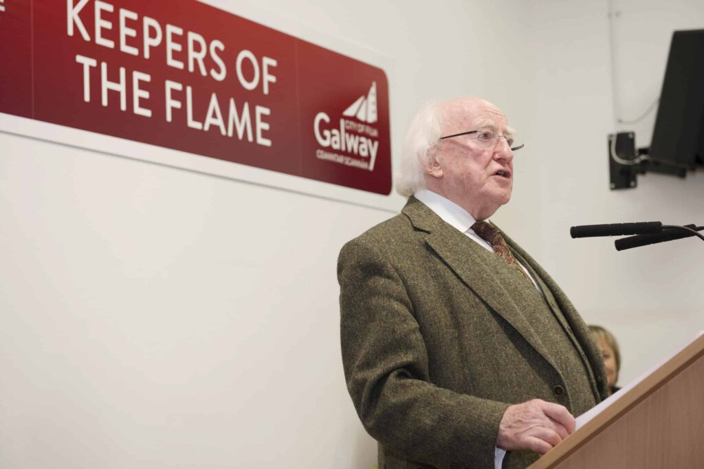 30/11/2015 repro free President Michael D Higgins was at Galway Film Centre where he received  honorary awards from Galway UNESCO City of Film for his outstanding contribution to Galway Film and Television industry.  Photo:Andrew Downes