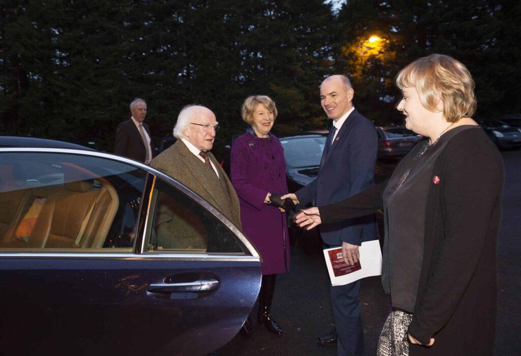 President arriving