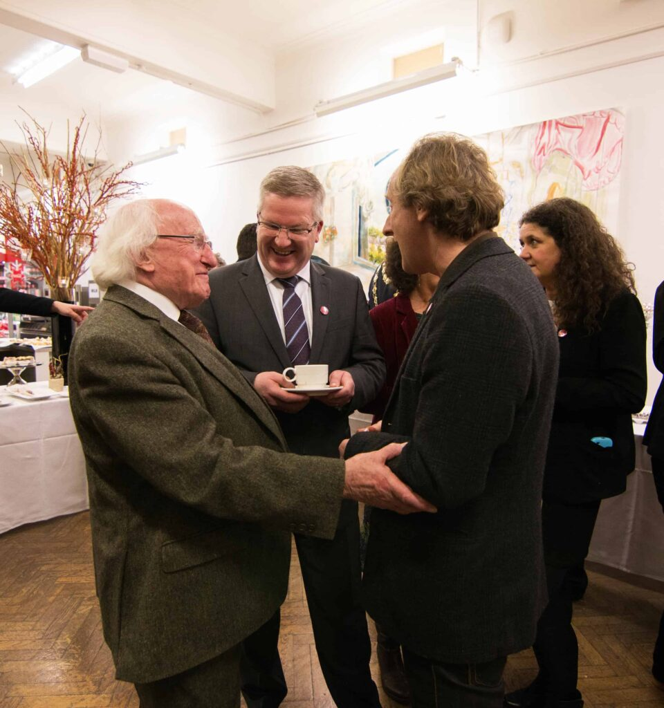 President talking to Jim Vaughan #2