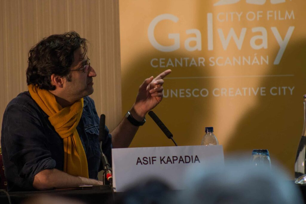 Asif Kapadia at the Galway Film Centre's annual two day  Film and TV Seminar Talking Documentary in the Harbour Hotel Galway  which featured Oscar nominated Director Asif Kapadia of AMY and Bafta nominated documentary A Syrian Love Story with Sean Mc Allister www.galwayfilmcentre.ie    Photos by Matt Kavanagh