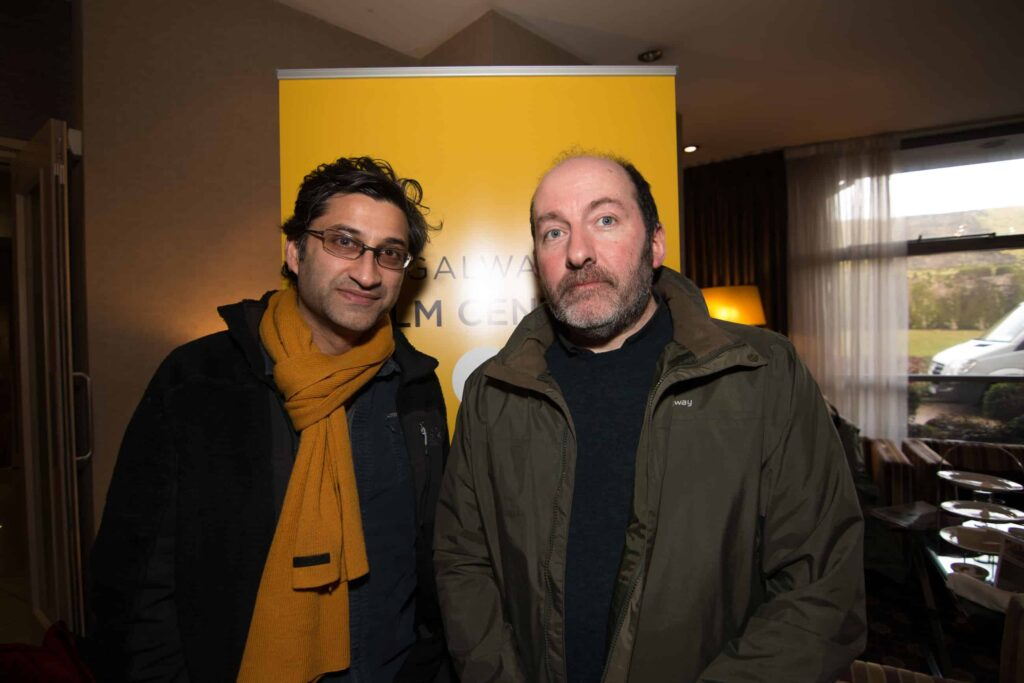 Left to right: Asif Kapadia and Pat Collins at the Galway Film Centre's annual two day  Film and TV Seminar Talking Documentary in the Harbour Hotel Galway  which featured Oscar nominated Director Asif Kapadia of AMY and Bafta nominated documentary A Syrian Love Story with Sean Mc Allister www.galwayfilmcentre.ie    Photos by Matt Kavanagh