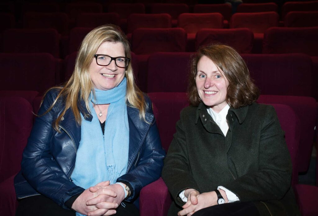 NO REPRO FEE / Press Use Splanc! 2016 short films commissioned by the Arts Council and TG4, in partnership with the Galway Film Centre, which will be broadcast on TG4 over the Easter weekend were launched last night in the IFI Pictured: L-R Proinsias Ni Ghrainne and Sharon Whooley Mandatory Credit: 1IMAGE/Bryan Brophy Following the premiere at the Irish Film Institute on 14th of March, seven of the Splanc! 2016 short films commissioned by the Arts Council and TG4, in partnership with the Galway Film Centre, will be broadcast on TG4 over the Easter weekend. This is a special edition of the Irish-language documentary scheme in which film artists provide their creative responses to the legacy of 1916 in the arts in Ireland Media Contact:  Linda Ní Ghríofa  linda.ni.ghriofa@tg4.ie 091-505228  1IMAGE PHOTOGRAPHY Studio: +353 1 493 9947 / Mob: +353 87 246 9221 1image.ie