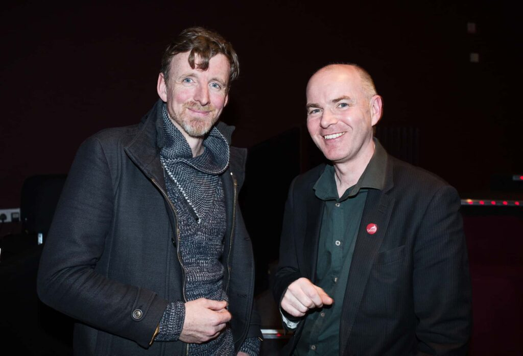 NO REPRO FEE / Press Use Splanc! 2016 short films commissioned by the Arts Council and TG4, in partnership with the Galway Film Centre, which will be broadcast on TG4 over the Easter weekend were launched last night in the IFI Pictured: L-R Feargal Ward and Declan Gibbons, Galway Film Centre Mandatory Credit: 1IMAGE/Bryan Brophy Following the premiere at the Irish Film Institute on 14th of March, seven of the Splanc! 2016 short films commissioned by the Arts Council and TG4, in partnership with the Galway Film Centre, will be broadcast on TG4 over the Easter weekend. This is a special edition of the Irish-language documentary scheme in which film artists provide their creative responses to the legacy of 1916 in the arts in Ireland Media Contact:  Linda Ní Ghríofa  linda.ni.ghriofa@tg4.ie 091-505228  1IMAGE PHOTOGRAPHY Studio: +353 1 493 9947 / Mob: +353 87 246 9221 1image.ie