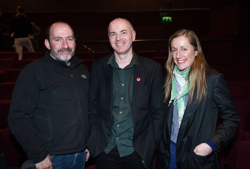 NO REPRO FEE / Press Use Splanc! 2016 short films commissioned by the Arts Council and TG4, in partnership with the Galway Film Centre, which will be broadcast on TG4 over the Easter weekend were launched last night in the IFI Pictured: L-R Pat Collins, Declan Gibbons, Galway Film Centre and Oonagh Kearney Mandatory Credit: 1IMAGE/Bryan Brophy Following the premiere at the Irish Film Institute on 14th of March, seven of the Splanc! 2016 short films commissioned by the Arts Council and TG4, in partnership with the Galway Film Centre, will be broadcast on TG4 over the Easter weekend. This is a special edition of the Irish-language documentary scheme in which film artists provide their creative responses to the legacy of 1916 in the arts in Ireland Media Contact:  Linda Ní Ghríofa  linda.ni.ghriofa@tg4.ie 091-505228  1IMAGE PHOTOGRAPHY Studio: +353 1 493 9947 / Mob: +353 87 246 9221 1image.ie