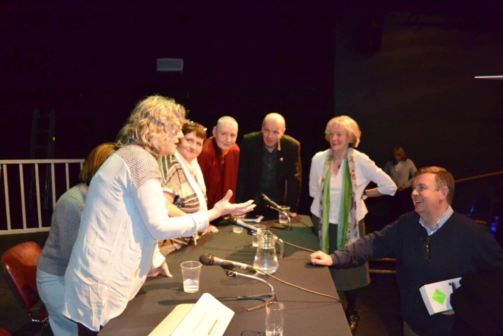100 Years of Cinema- post group discussion - Margo Harkin, Hilary Dully, Anne Crilly, Pat murphy, Declan Gibbons, Lelia Doolan and Braian Dobson