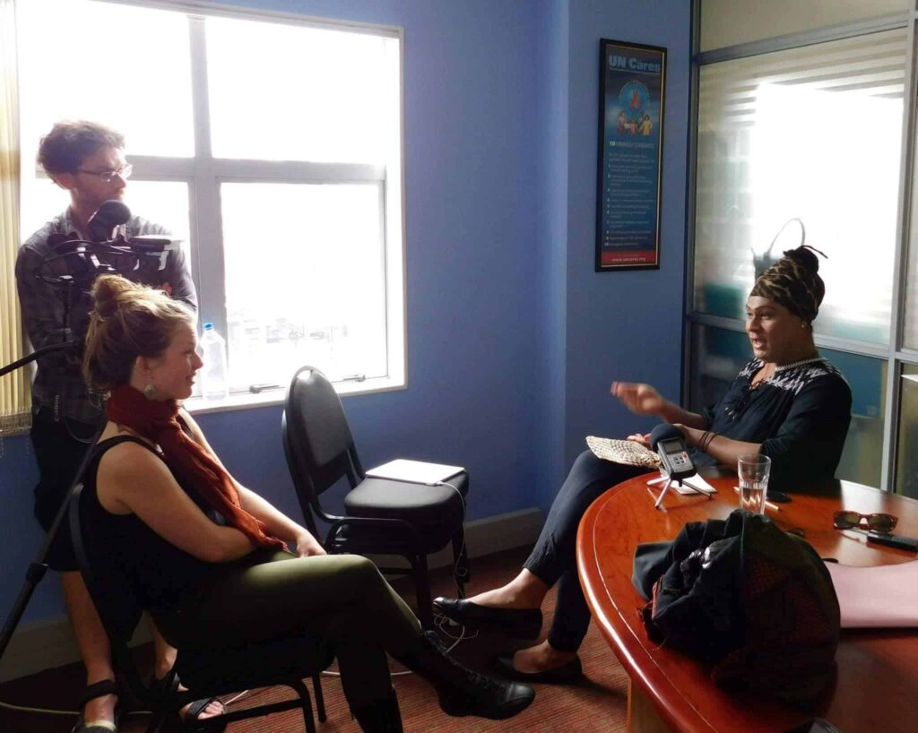 #2Haus of Khameleon interview today in Suva, Fiji for International IDEA and Galway Film Centre.