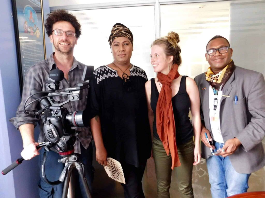 Haus of Khameleon interview today in Suva, Fiji for International IDEA and Galway Film Centre.