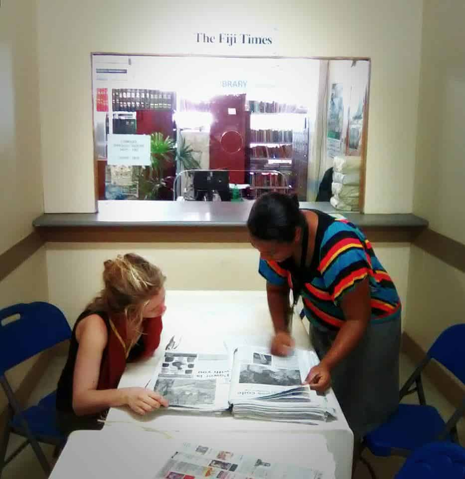 Researching LGBTI stories at the Fiji Times - Last few days of filming here for International IDEA and The Galway Film Centre.