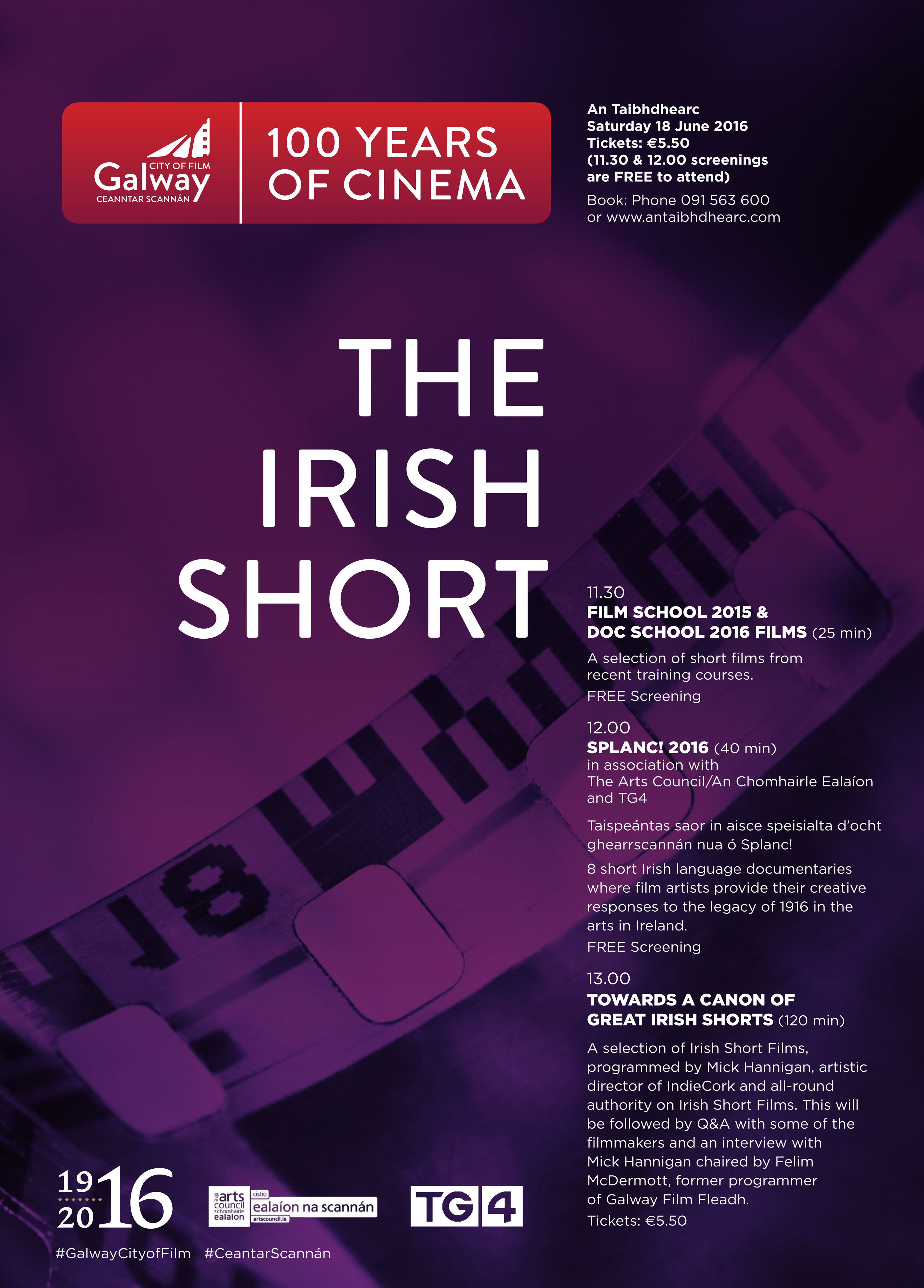 Poster design galway - June 100 Years Of Cinema Poster