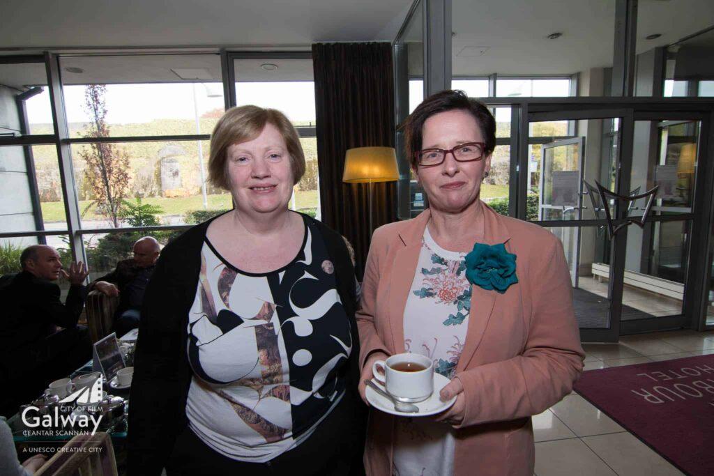 L-R - Miriam Ni Neill - Udaras Na Gaelthachta, Eibhlin Ni Mhunghaile - Creative Europe Desk Galway