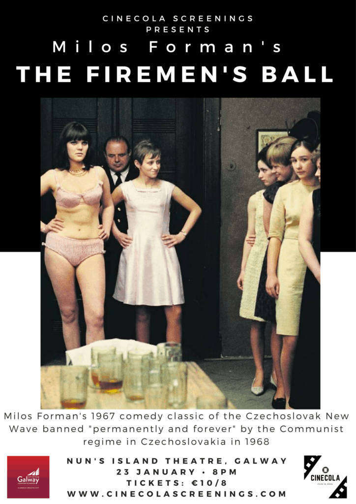 THE FIREMEN'S BALL cinecola screenings poster