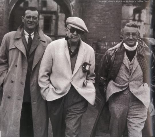 On the set of The Quiet Man with John Wayne and Arthur Shields
