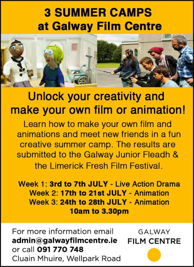 3 Summer Camps at Galway Film Centre