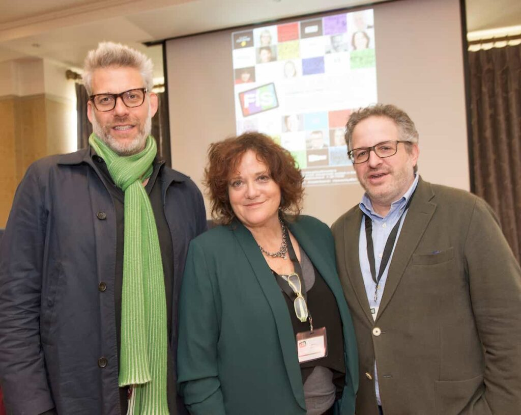Speakers  Lawrence Elman, Yaddo, Wendy Bernfeld Rights Stuff and Amory B. Schwartz QYOU at the Fís TV Summit in the Galway Bay Hotel Galway.  Photo:Andrew Downes, xposure