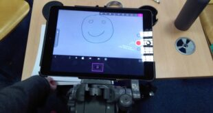 the ipad set up with animation paper