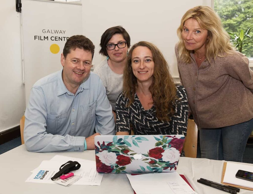 Europe screen talent at Galway Film Centre. Photo : Andrew Downes, xposure.